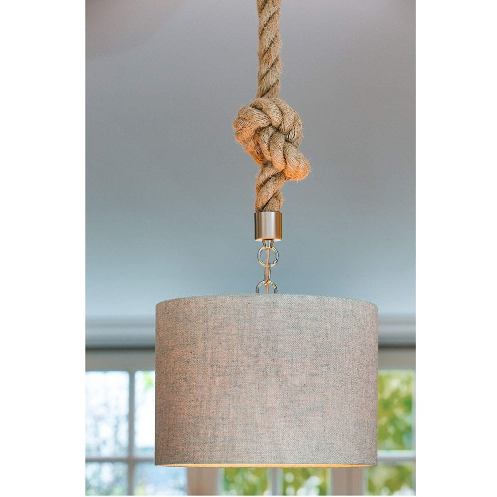 Light Living 3300383 Pendant D3x150cm Gilmar Rope Ideas4lighting