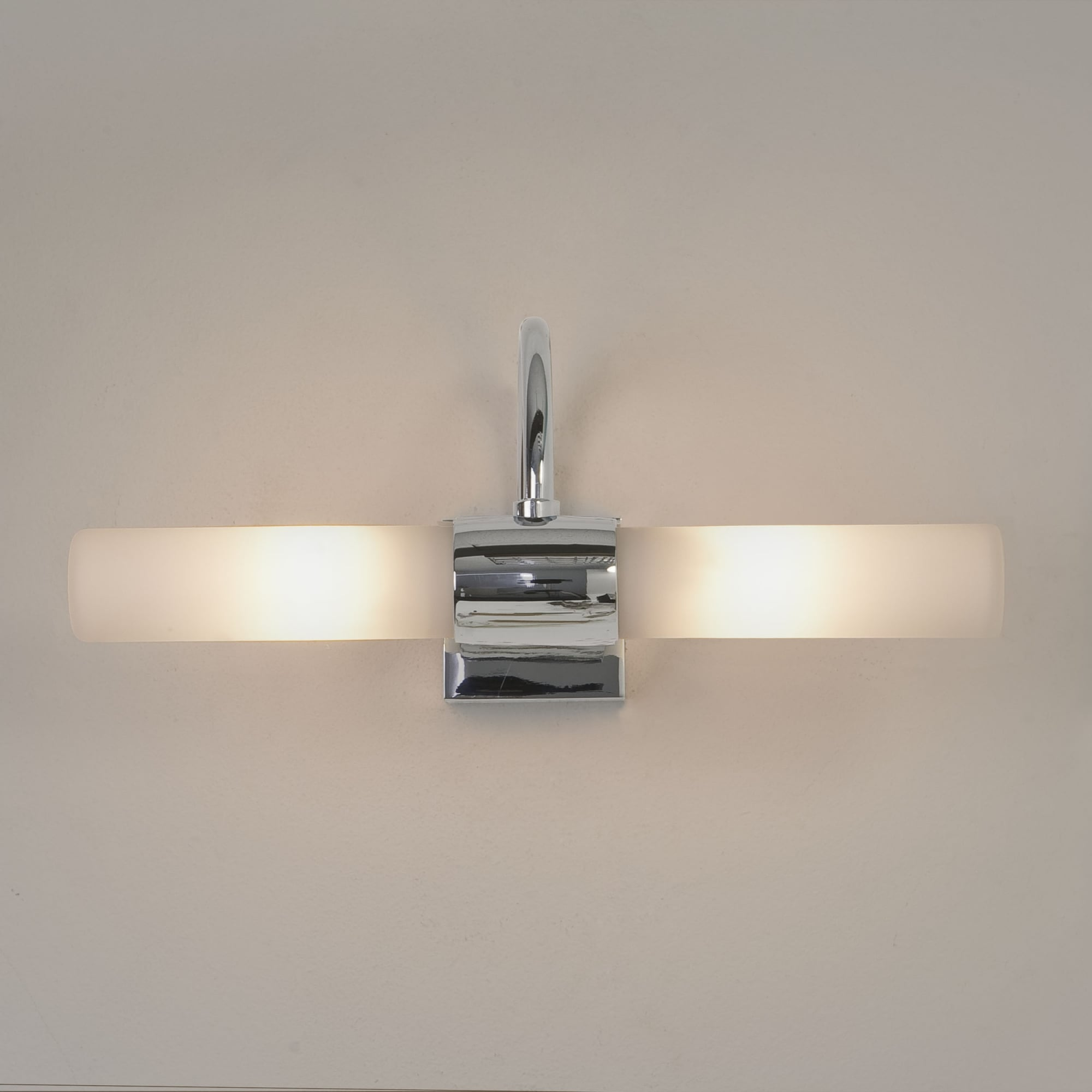 Astro 1044001 Dayton Twin Glass Tube Over Mirror Wall Light Chrome Ideas4lighting Sku34425i4l