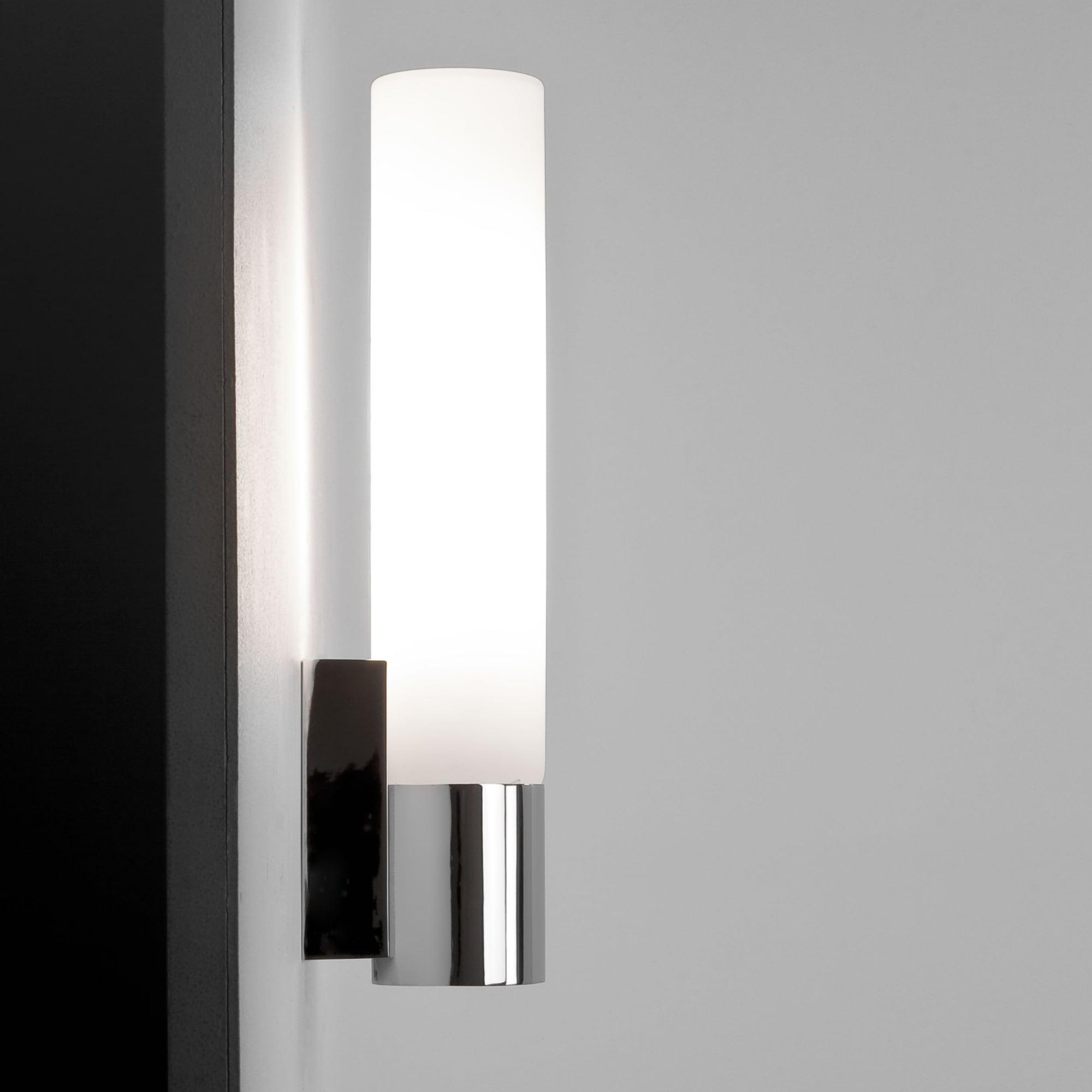 Astro 1060003 Kyoto 365mm Chrome Bathroom Wall Light Tube Ideas4lighting Sku34489i4l