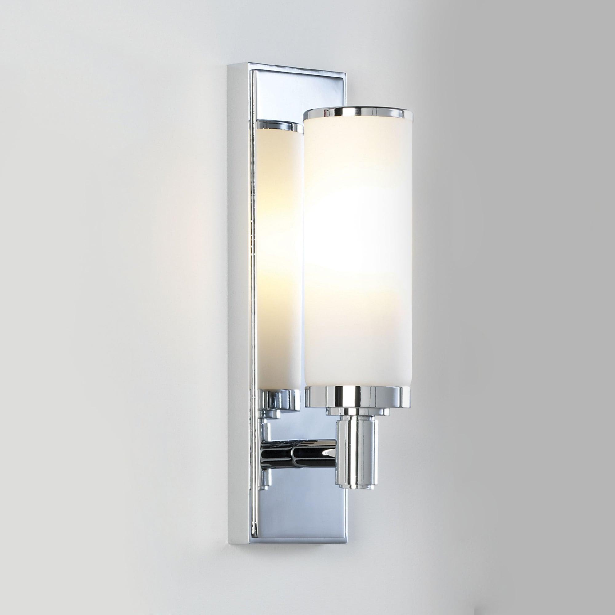 Astro 1147001 Verona Chrome Wall Light Ip44 With Opal Tube Ideas4lighting Sku34521i4l