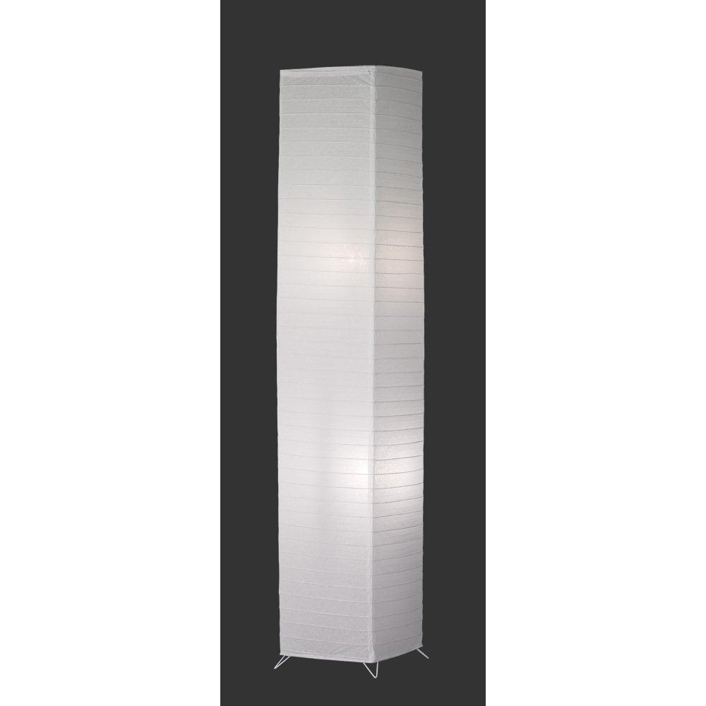 Modern Paper Floor Lamp: Trio Bamboo Modern White Paper Floor Lamp