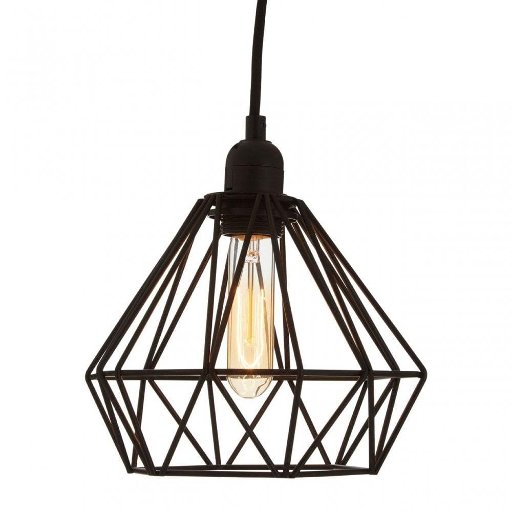 Premier Lighting Bartol Black Metal Wire Pendant Light Metal Black Shop By Type From Ideas4lighting Uk