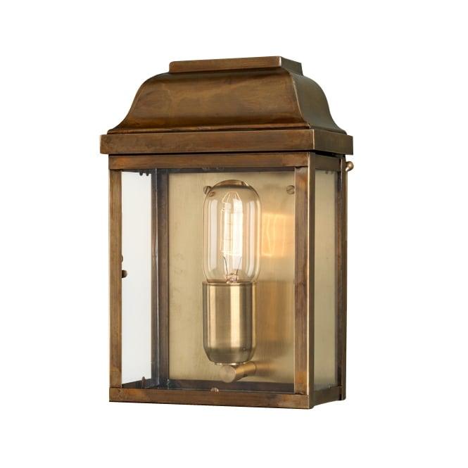 Light Shop Sale Victoria: Vintage Brass Wall Lantern Exterior