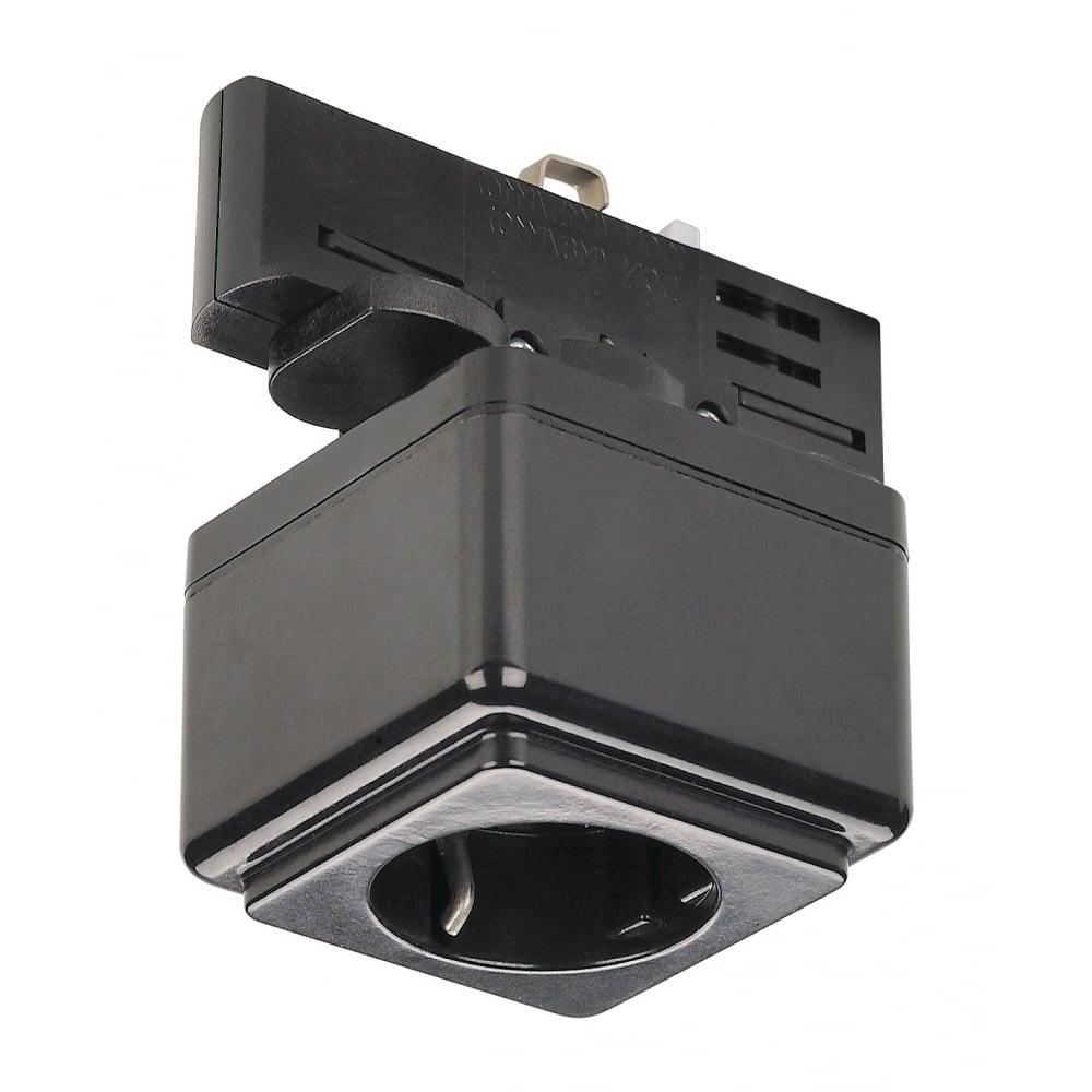 Slv 145700 Eutrac Socket Adapter Black Ideas4lighting
