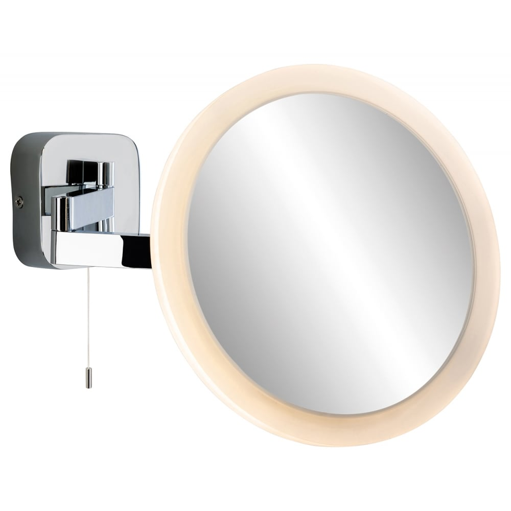 Adjustable Bathroom Wall Mirrors: Firstlight Magnifying Mirror LED Wall Light (Switched