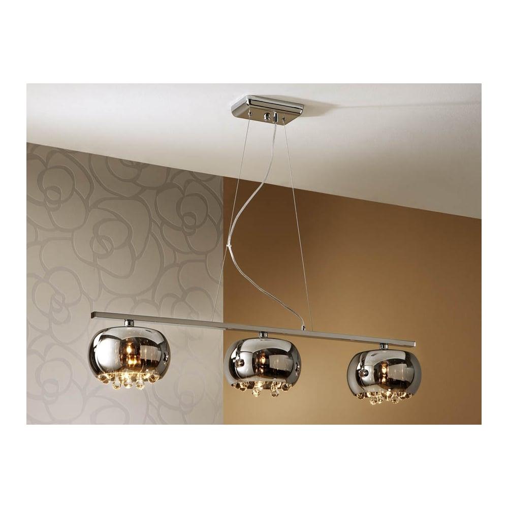 Schuller 509213 Modern Chrome Open Oval Ceiling Bar Pendant 3 Light Ideas4lighting