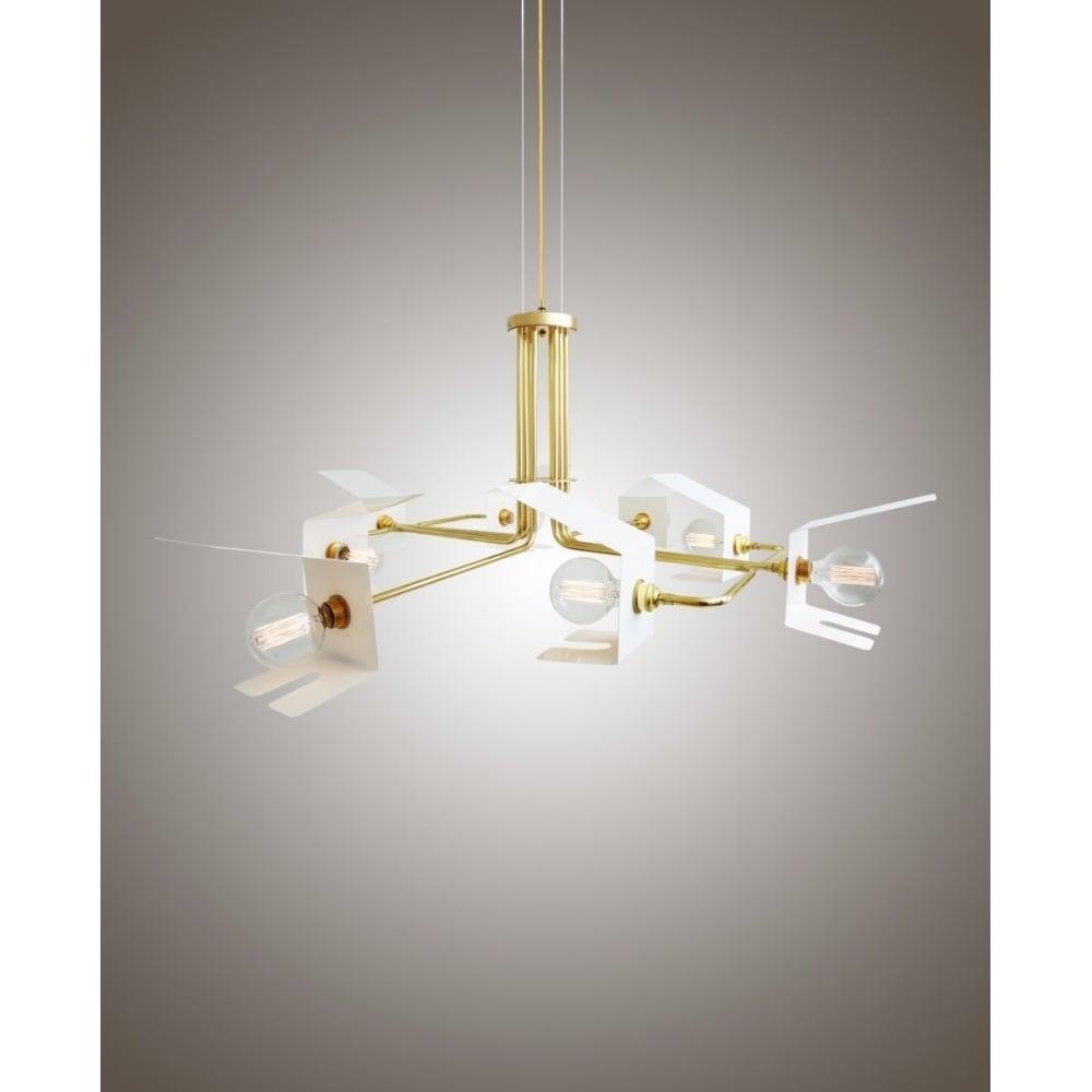 Mullan Mlf198satbrs Petra Retro Quirky Ceiling Light Shade Pendant Ideas4lighting Sku31383i4l