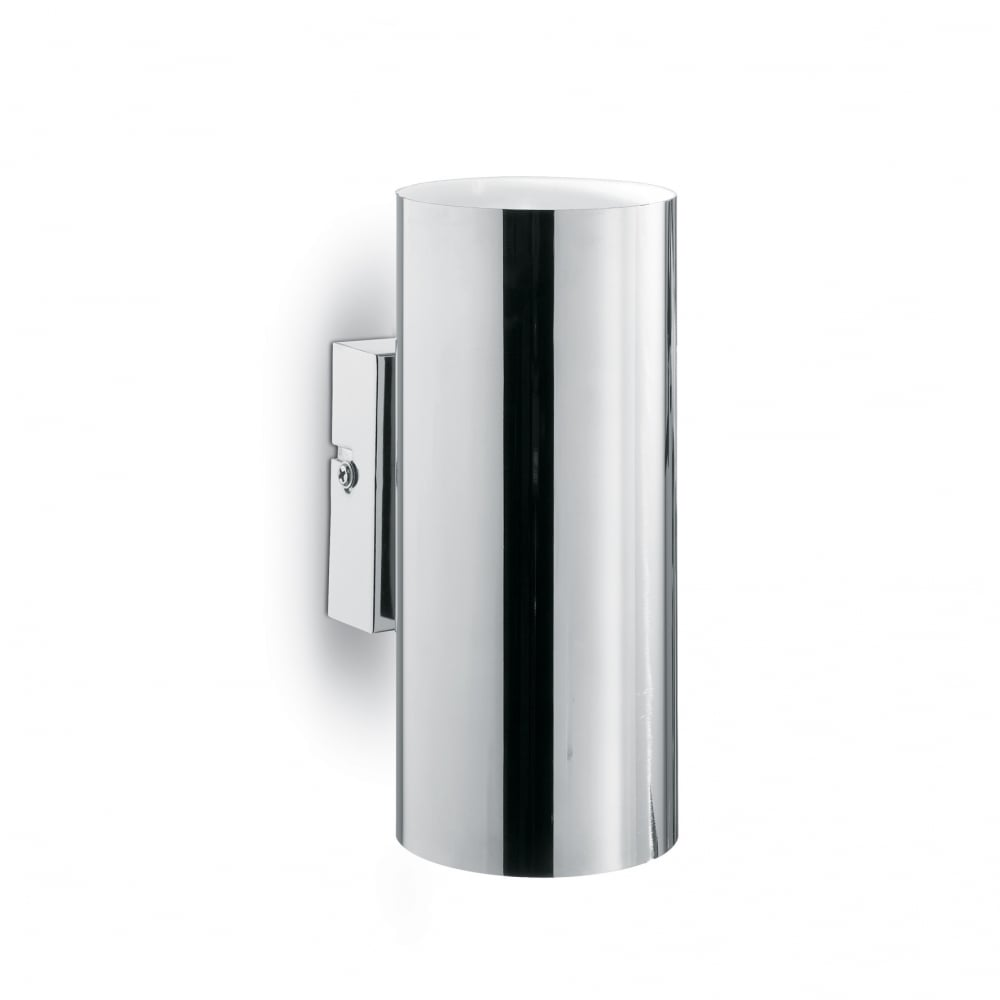 Ideal Lux Polished Chrome Modern Up Down Cylinder Wall Light